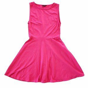 Aritzia Talula skater dress mesh insert pink small